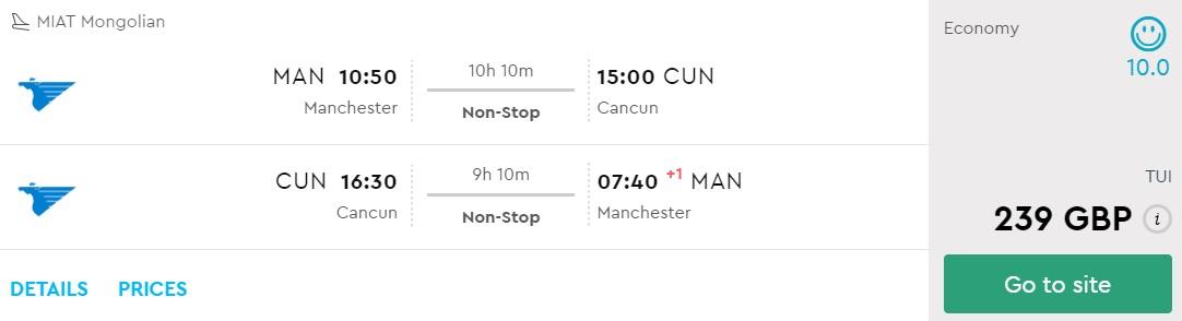 cheap flight tickets uk mexico