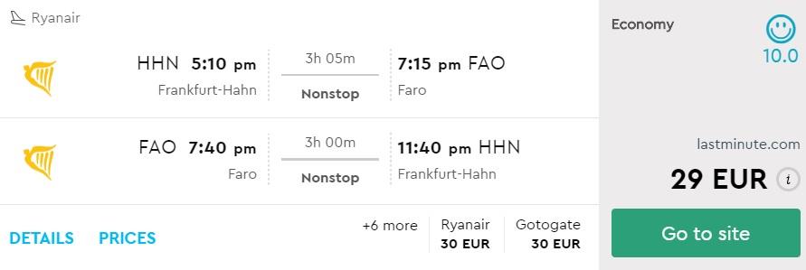 cheap flights frankfurt faro portugal