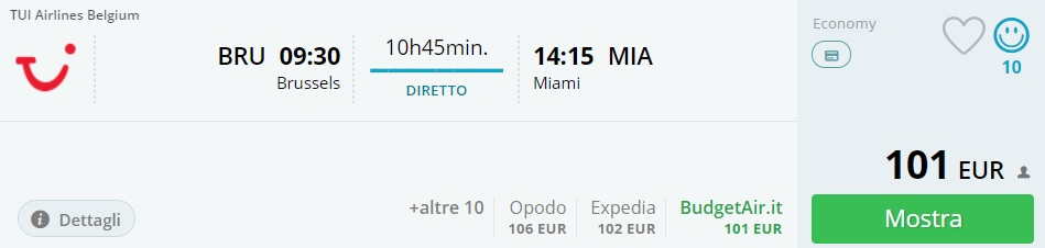 cheap flights from brussels to miami