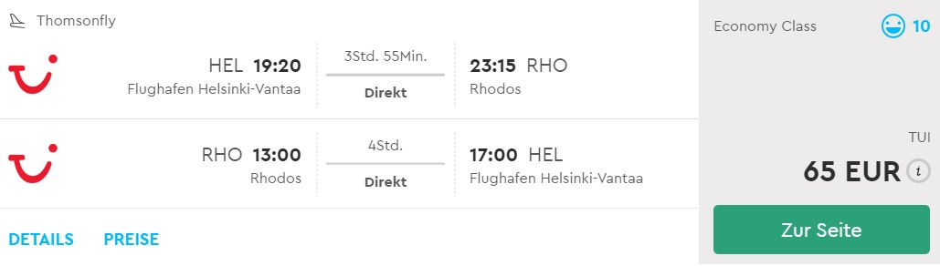 cheap flights helsinki rhodes