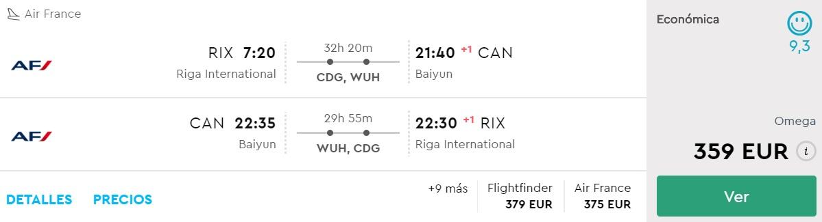 cheap flights riga china Guangzhou