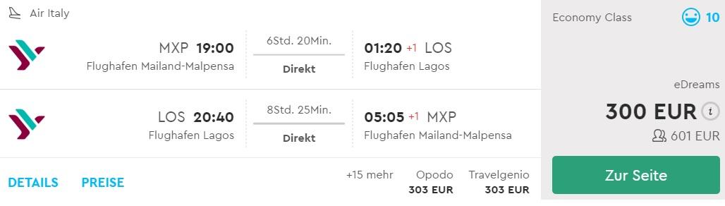 cheap non stop flights milan nigeria