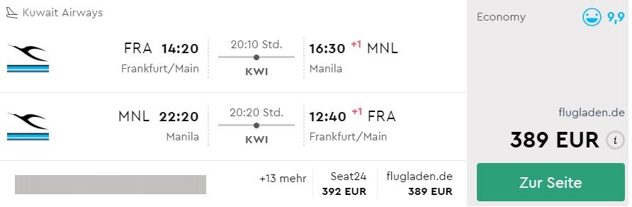 frankfurt to philippines