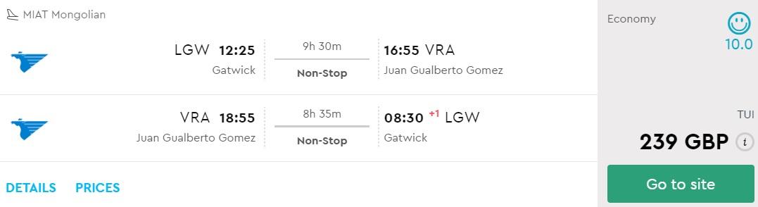 last minute flights from london to cuba