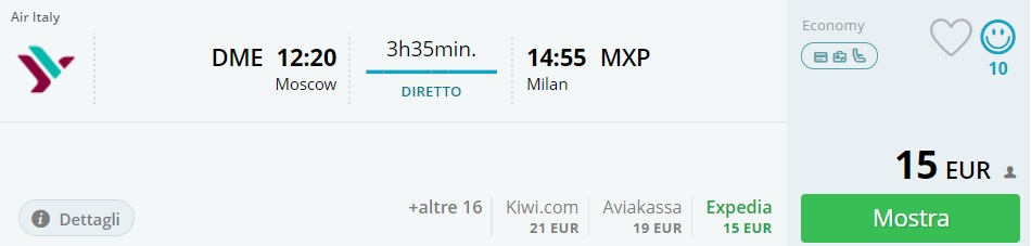 last minute flights from moscow to milan