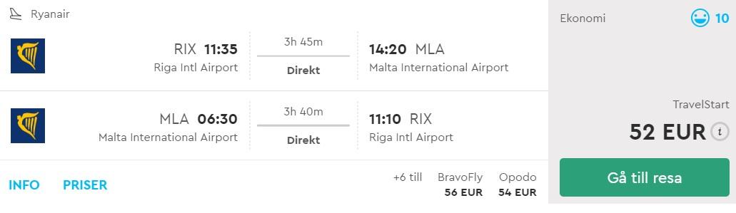 summer flights riga latvia malta