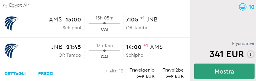CHEAP Flights from Amsterdam to Johannesburg, South Africa