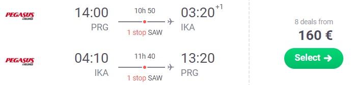 Cheap flights from Prague to Tehran IRAN