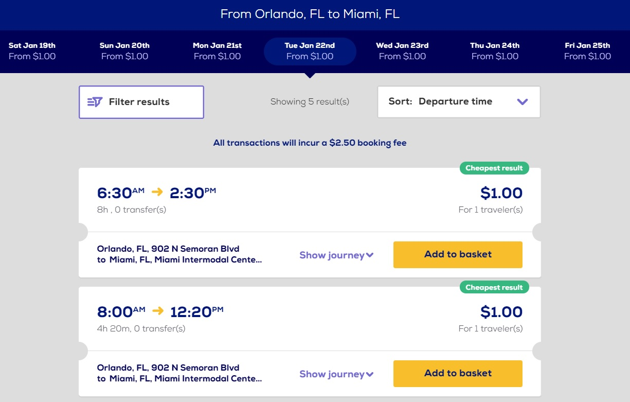 US MegaBus SALE bus tickets across USA