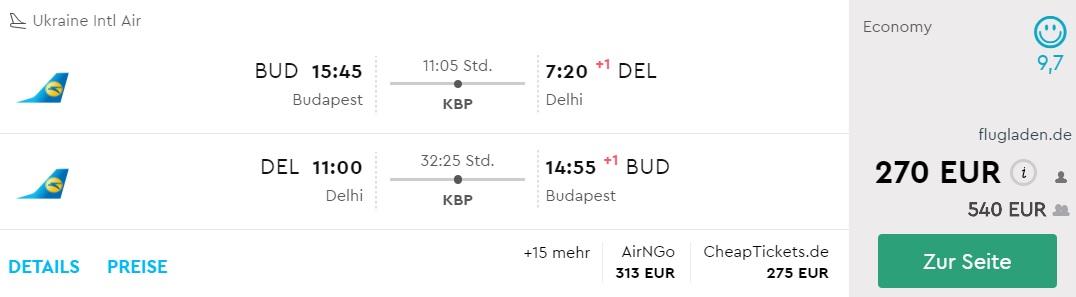 budapest delhi flights