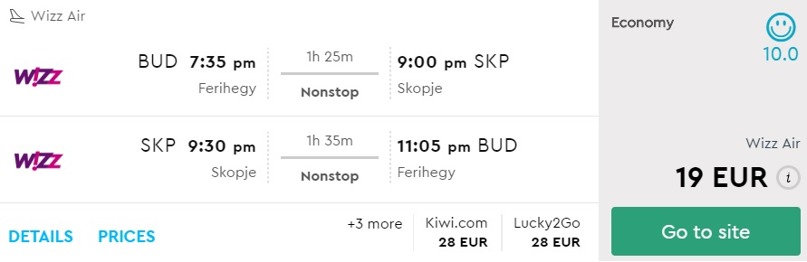 cheap flights budapest skopje