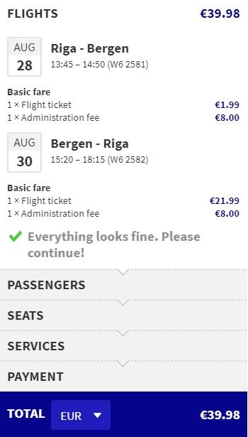 cheap flights riga bergen summer
