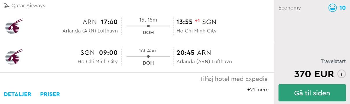 cheap flights sweden vietnam ho chi minh city