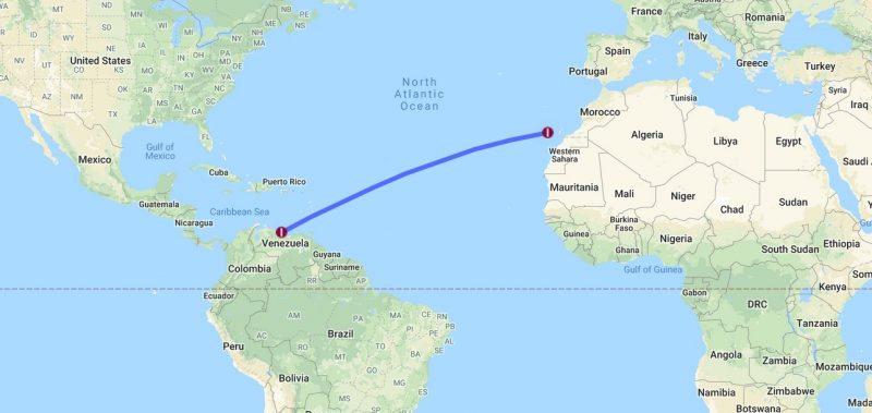 cheap non stop flight tenerife venezuela
