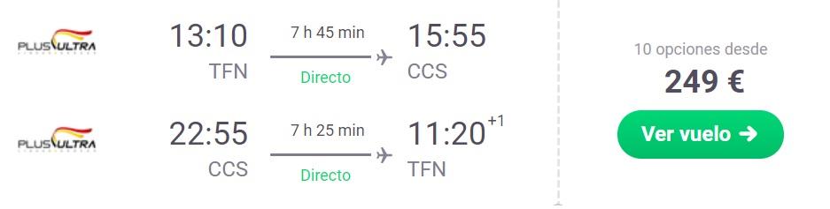 cheap non stop flights tenerife venezuela