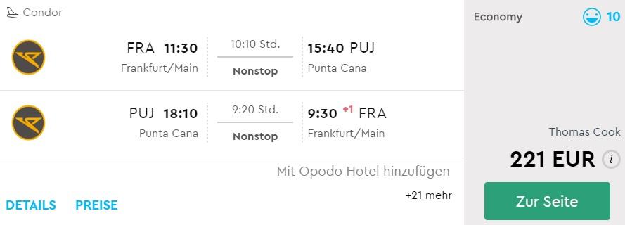 chep flights frankfurt punta cana dominican republic
