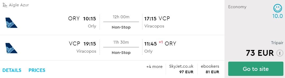 error fare flights paris brazil