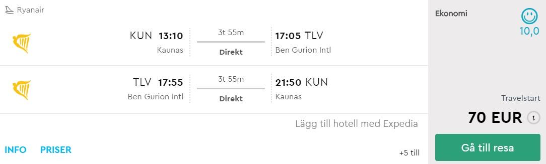 flights to tel aviv israel from lithuania