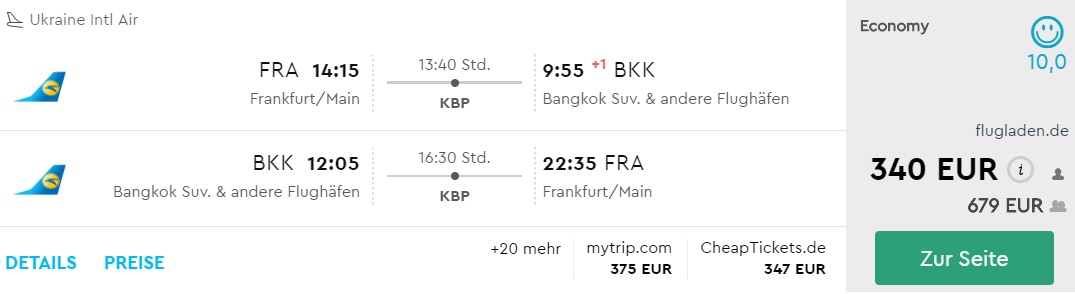 frankfurt bangkok flights