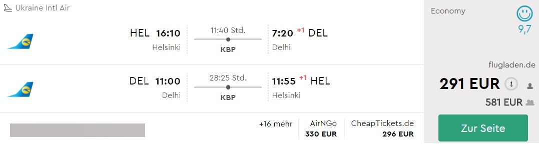 helsinki delhi flights