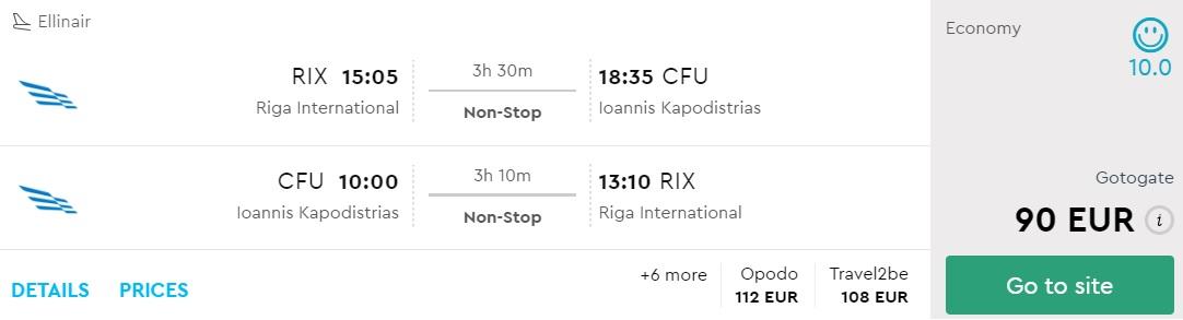 last minute cheap flights riga corfu greece