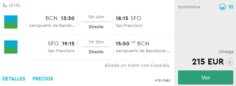 non stop flights from barcelona to san francisco
