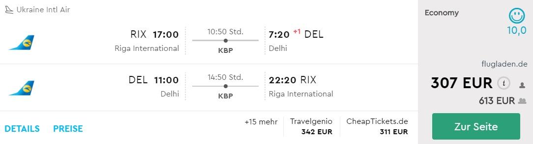 riga delhi flights