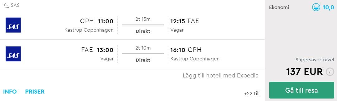 sas cheap flights copenhagen faroe islands