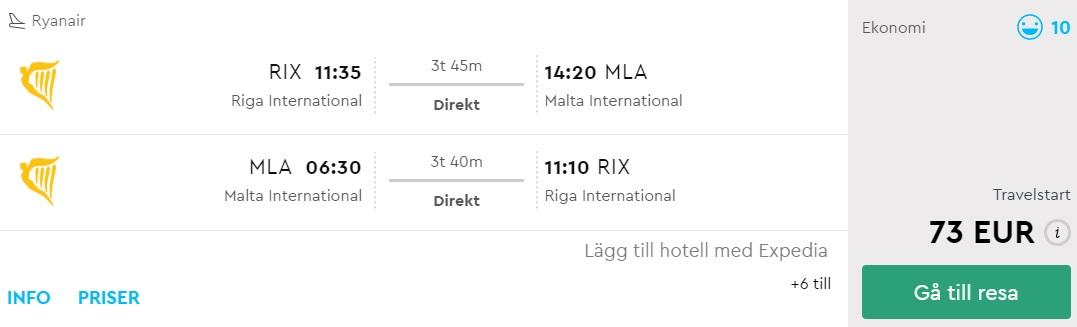 summer cheap flights riga malta