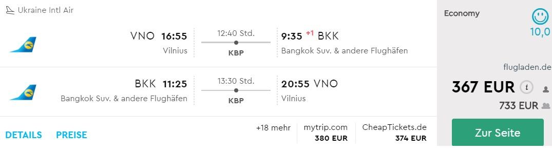 vilnius bangkok flight