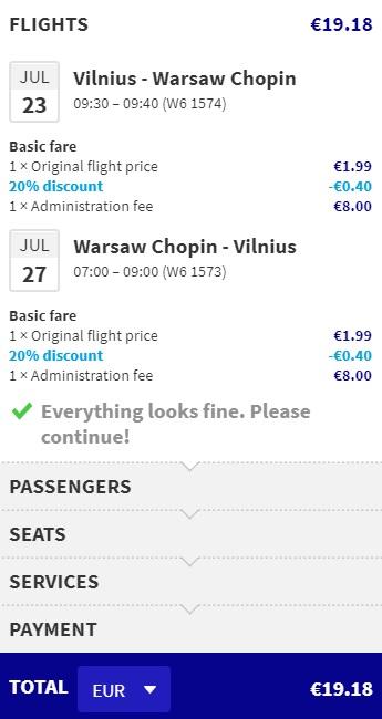 vilnius warsaw wizz air