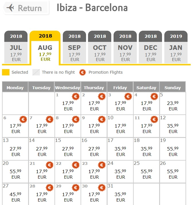 vueling promotion 2018