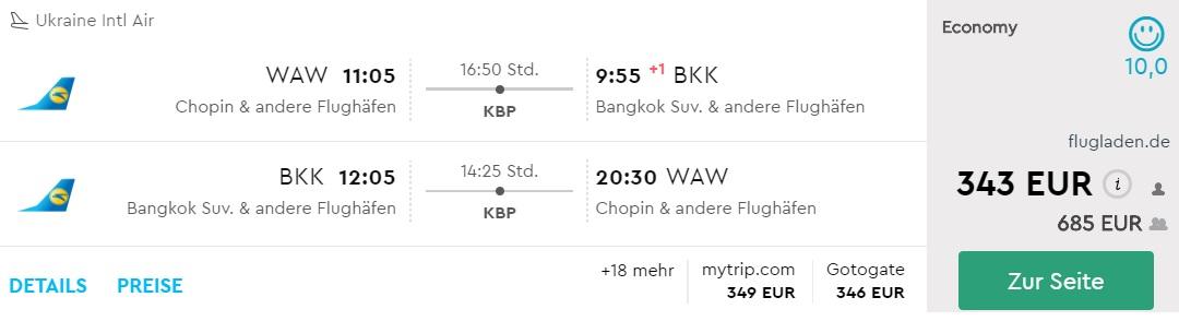 warsaw bangkok flights