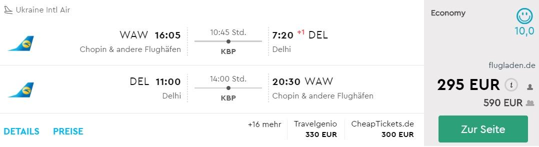 warsaw delhi flights