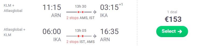 CHEAP Flights from Stockholm to TEHRAN IRAN