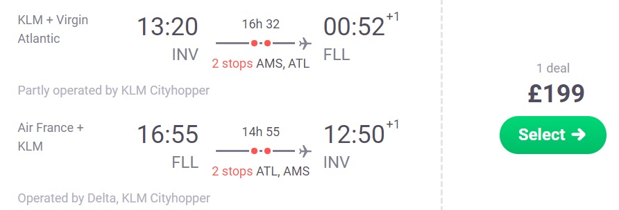 Cheap flights from the UK to FLORIDA