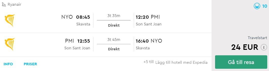 SUMMER Flights from Stockholm to PALMA MALLORCA
