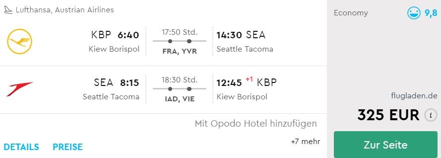 cheap flights from kyiv to seattle usa