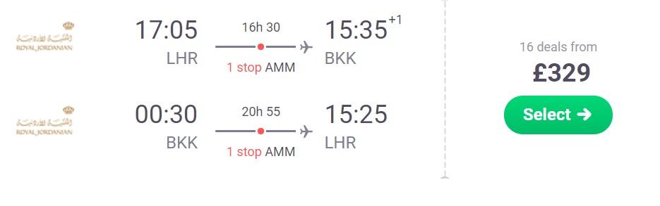 cheap flights from london to bangkok thailand