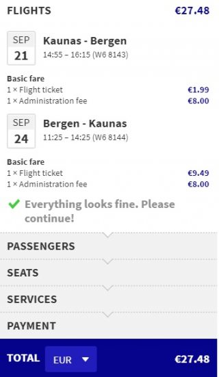 cheap flights kaunas bergen