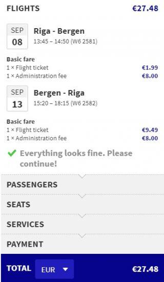 cheap flights riga bergen