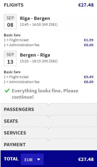 cheap flights riga bergen