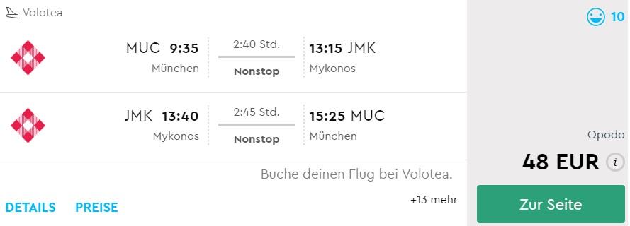 cheap flights to mykonos from munich germany