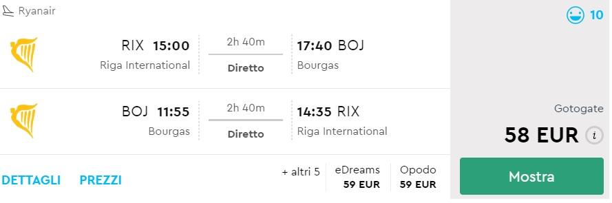 flights to burgas bulgaria from riga
