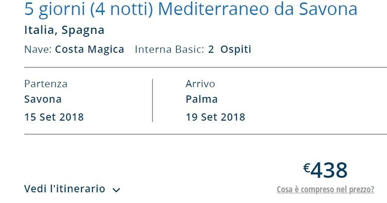 Full Board cruise from Italy to PALMA MALLORCA