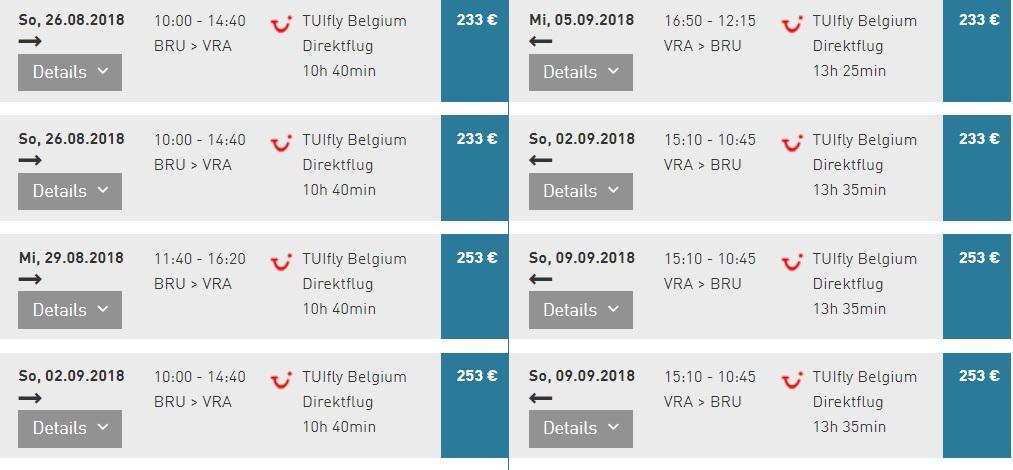 Last-min! Cheap flights from Brussels to CUBA Varadero
