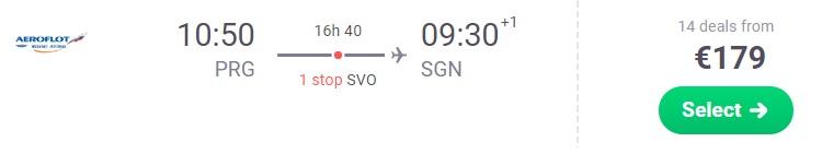 One way flights from Prague to VIETNAM Ho chi minh city
