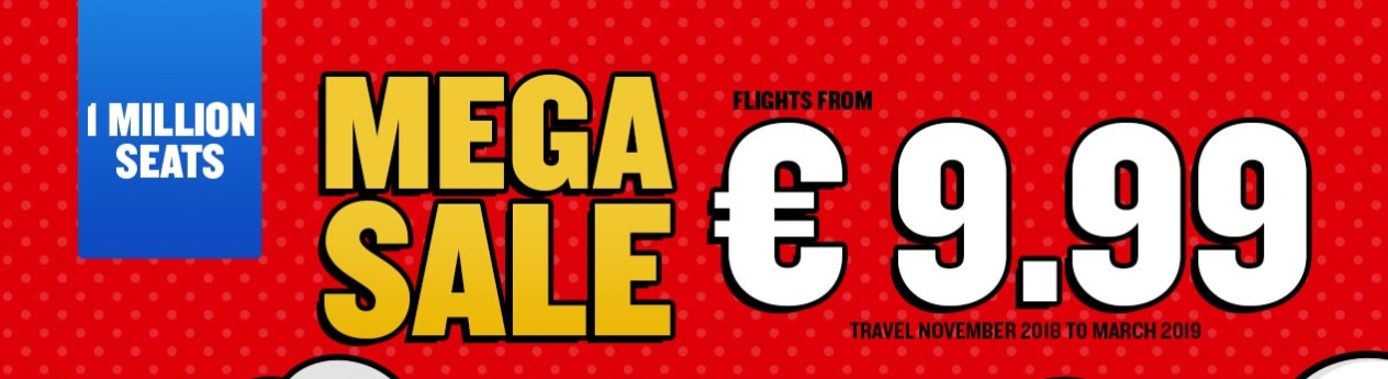 Ryanair WINTER Seat SALE