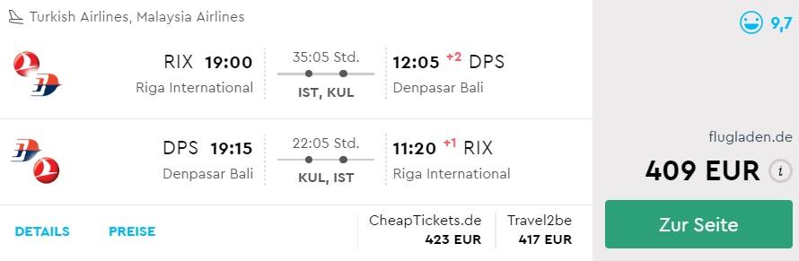 cheap flights to bali indonesia from riga latvia