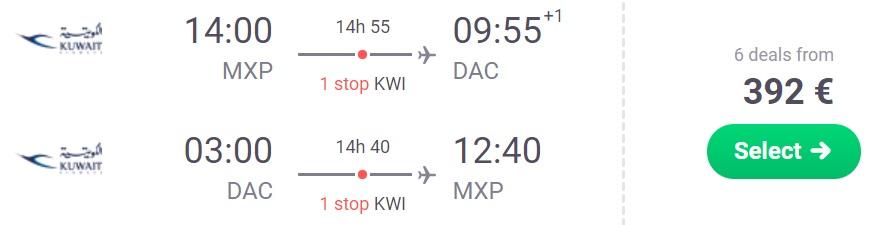 cheap flights to bangladesh from milan italy